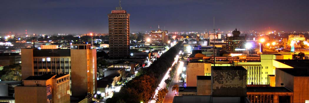 Lusaka, Zambia at Night