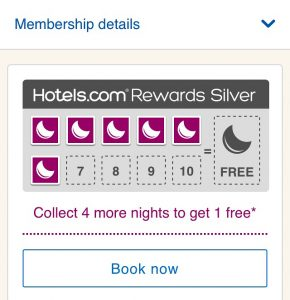 hotels.com free nights
