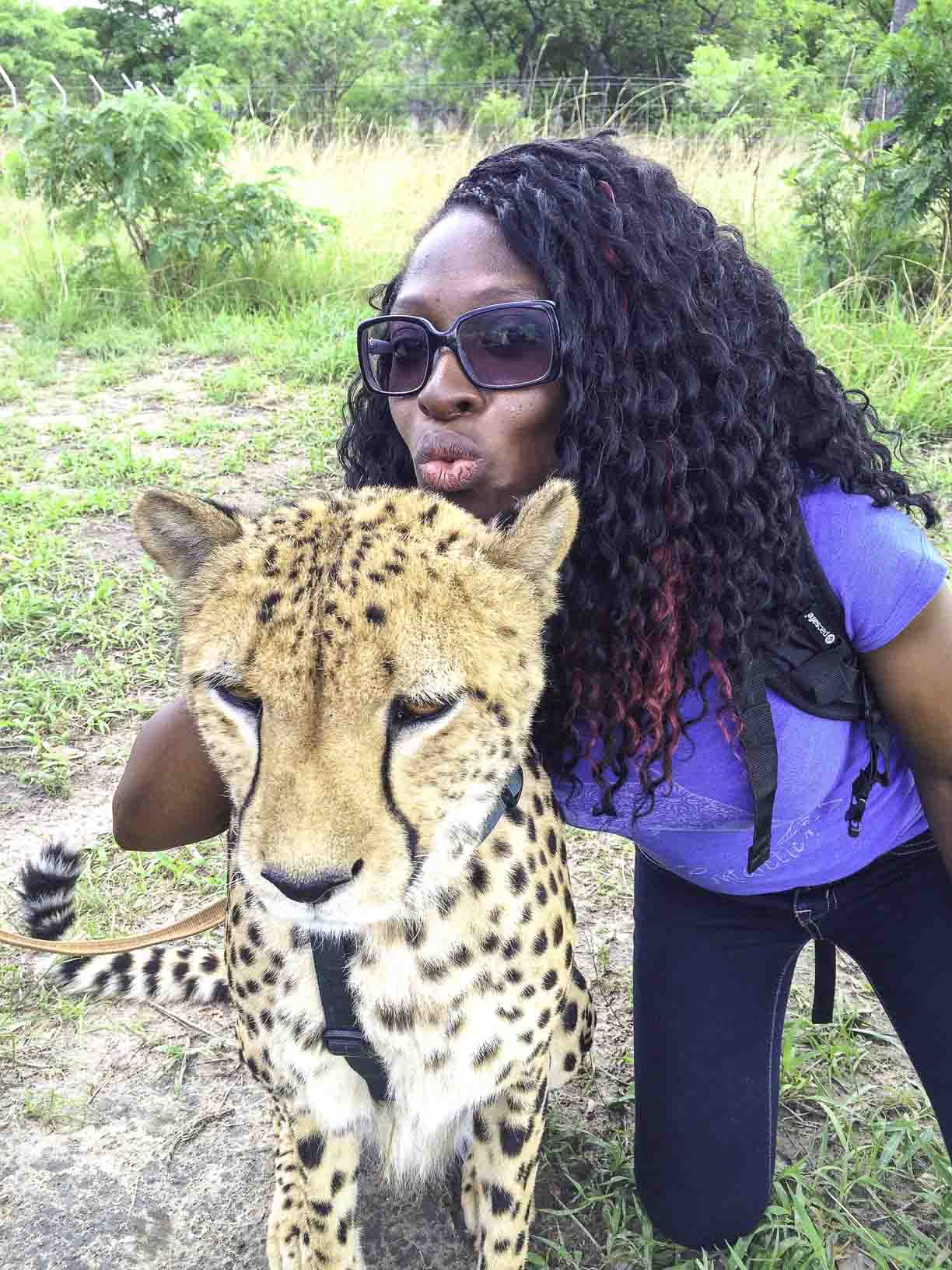 Dr Quinta with Cheetah